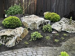 garden design moss rock boulders south huntington ny rustic