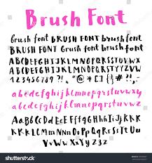 hand written brush script alphabet many stock vector 339758297