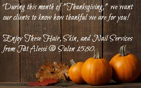 thanksgiving specials from salon 1580