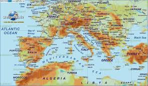 map world seas map of south europe in the atlas world and with seas