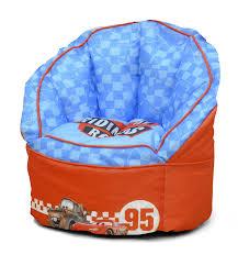 furniture home disney cars toddler bean bag chair red design