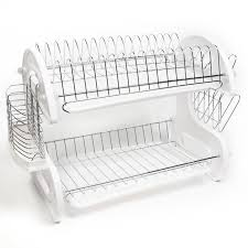 Kitchen Sink Dish Rack Sweet Home Collection Home Basics 5 2 Tier Kitchen Sink Dish