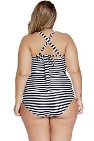 4x Plus Size Clothing Plus Size Swimwear 3x 4x 5x 6x Striped Halter Top Tankini