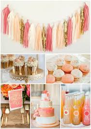 coral baby shower coral and party and wedding inspiration macaroons cupcakes