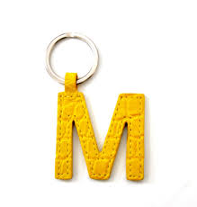 mini letter keychains single sided alligator in stock now