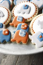 elephant baby shower cookies eat think u0026 be merry