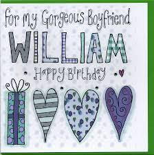 personalised boyfriend birthday card by sowden design