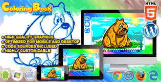 html5 coloring book animals html5 game by codethislab codecanyon