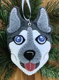 wool felt boxer dog head ornament hanger stuff i like