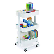 Ikea Raskog Rolling Cart Buy The White Lexington 3 Tier Rolling Cart By Recollections At