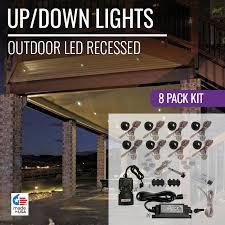 outdoor led can lights outdoor led recessed up down light kit dekor lighting