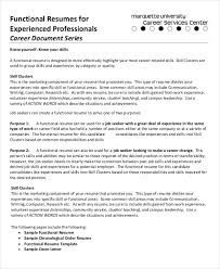 Resume Templates Samples Free Functional Resume Examples Functional Resume Samples Examples