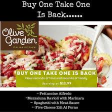 Cat Recipe Olive Garden Five Cheese Ziti Al Forno - olive garden specials
