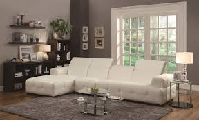 Leather Sectional With Chaise And Ottoman Living Room Coaster Sectional Darie Leather Sectional Sofa