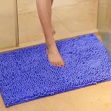 shaggy microfibre bathroom shower bath mat rug carpet non slip