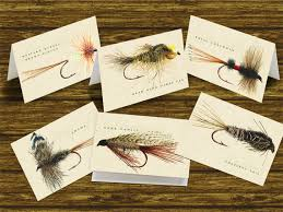 outdoors cards fly fishing note cards by ceceliajane on etsy