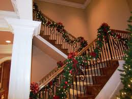 christmas decorations for stairs christmas ideas