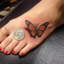 48 unique butterfly tattoos on foot