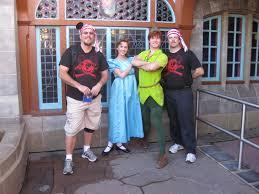 peter pan at adventureland bridge in magic kingdom