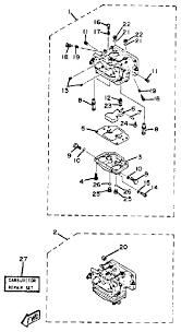 1985 yamaha carburetor parts for 115 hp 115etlk outboard motor