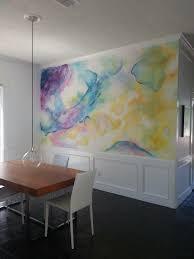 coole wandgestaltung 32 wandfarben ideen mit aquarell die sie begeistern werden