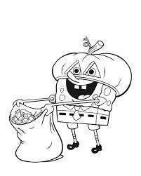 happy halloween coloring pages spongebob coloringstar