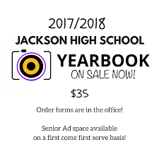 high school annuals for sale clarke county 2017 2018 jackson high school yearbooks are on