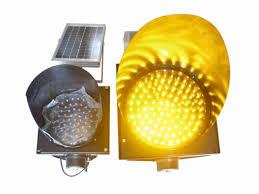 Solar Traffic Light - 200mm waterproof solar led traffic light durable yellow solar