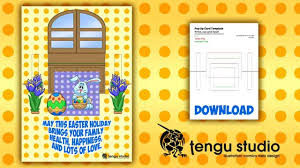 simple but effective pop up card free printable easter card