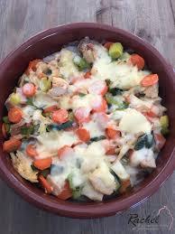 cuisiner leger gratin léger poulet poireaux et carottes et sa cuisine