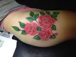 Big Flower Tattoos On - thigh best flowers pink big design color zenink 01