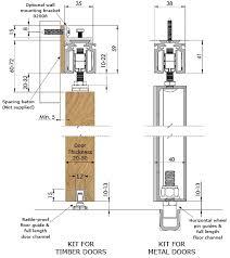 coburn eternal 130 sliding door gear dimensions