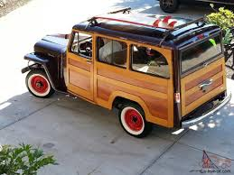 wood panel jeep wrangler willys real woody woodie surf jeep rare one of one in the
