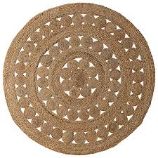 round jute rug serena u0026 lily love the cut out pattern rugs