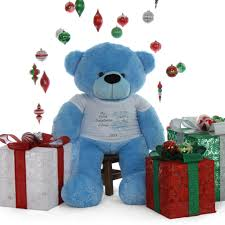 Engraved Teddy Bears My First Christmas Teddy Bear Baby Blue