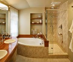 corner tub shower combo bathroom contemporary with bathroom