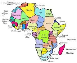 africa map countries and capitals africa map with capitals holidaymapq