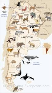 Buenos Aires Map Map Of Fauna In Argentina