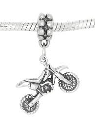 buy motocross bike amazon com sterling silver oxidized three dimensional dirt bike