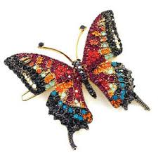 butterfly hair clip swarovski siam large butterfly hair clip hc0049 polyvore