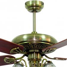Ceiling Fans With 5 Lights Blades And 5 Lights Bronze Material Antique Ceiling Fans With