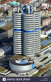 bmw germany muenchen germany overlooking the bmw museum and the bmw tower