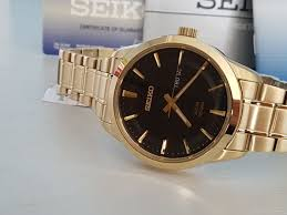 seiko solid bracelet images Seiko solar watch gold plated solid bracelet unworn men 2018 jpg
