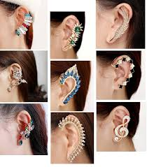 earrings cuffs how to choose and wear an ear cuff items in oka jewelry store on