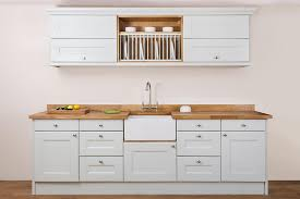 Specialist Solid Oak Kitchen Cabinets In Curved Belfast Oven - Kitchen with belfast sink