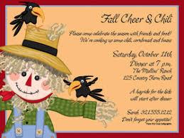 seasonal fall thanksgiving invitations scarecrow