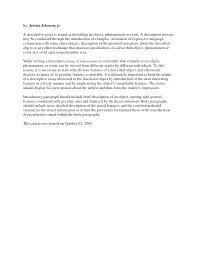 outline for descriptive essay easy essay outline easy essay