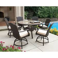 Patio High Dining Set Member S Heritage 7 Balcony Height Dining Set With