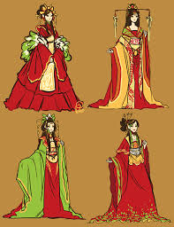 imperial china imperial clothing and beautiful mẫu vẽ