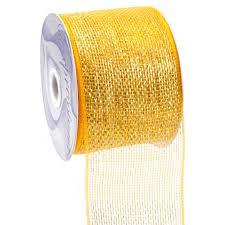 metallic gold ribbon 4 poly deco mesh ribbon metallic gold rs200553 craftoutlet